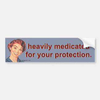 schwer medizinisch behandelt autoaufkleber