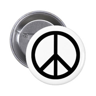 (Schwerer) Knopf des Friedenssymbols Runder Button 5,1 Cm