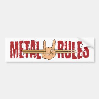 Schwermetallfelsen-Schlagzeuger ordnet Autoaufkleber