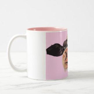 Schwermütige MOO-Tasse Zweifarbige Tasse