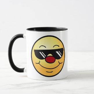 Schwermütiger Smiley Grumpey Tasse