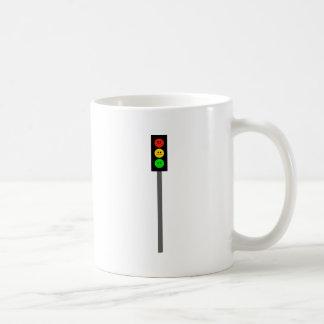 Schwermütiger Stoplight auf Polen Kaffeetasse