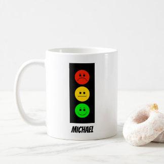 Schwermütiger Stoplight kundengerecht mit Namen Kaffeetasse