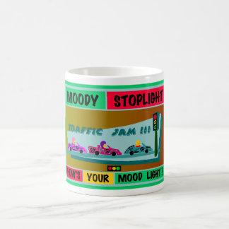 Schwermütiger Stoplight-Logo-Stau Kaffeetasse