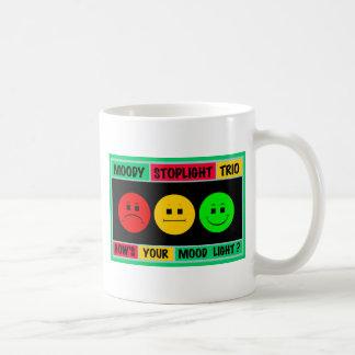 Schwermütiges Stoplight-Trio-Logo Kaffeetasse