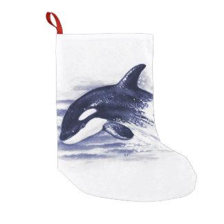 Schwertwal, der Blau durchbricht Kleiner Weihnachtsstrumpf