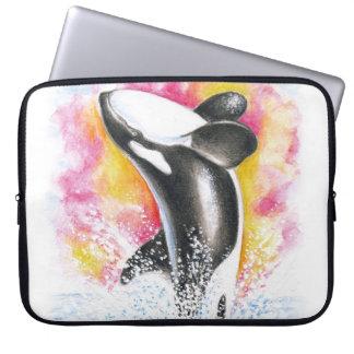 Schwertwal-Durchbrechen Laptopschutzhülle