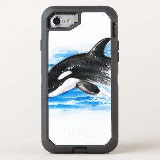 Schwertwal-Durchbrechen OtterBox Defender iPhone 8/7 Hülle