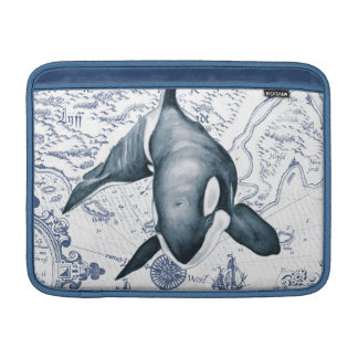 Schwertwal-Karten-Blau MacBook Air Sleeve