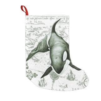 Schwertwal-Karten-Grün Kleiner Weihnachtsstrumpf
