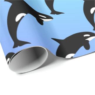 Schwertwal-Killerwal-Blau Geschenkpapier