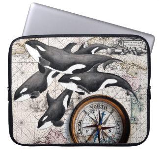 Schwertwal-Seekompaß Laptopschutzhülle