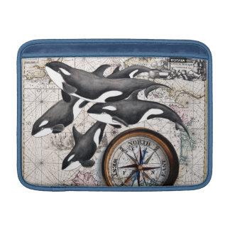 Schwertwal-Seekompaß MacBook Sleeve