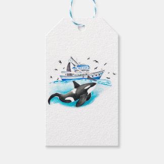 Schwertwal und das Boot Geschenkanhänger