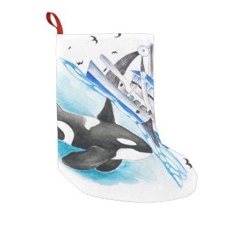 Schwertwal und das Fischerboot Kleiner Weihnachtsstrumpf