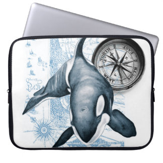 Schwertwal-Wal-Kompass Laptop Sleeve