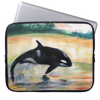 "Schwertwal-Wal-Neopren-Laptop-Hülse 15"" Laptop Sleeve"