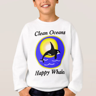 Schwertwal-Wal-saubere Ozean-glückliche Wale Sweatshirt