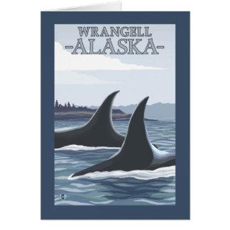 Schwertwal-Wale #1 - Wrangell, Alaska Karte