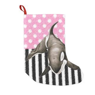Schwertwal-Walrosa-Tupfen Kleiner Weihnachtsstrumpf