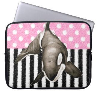 Schwertwal-Walrosa-Tupfen Laptop Sleeve