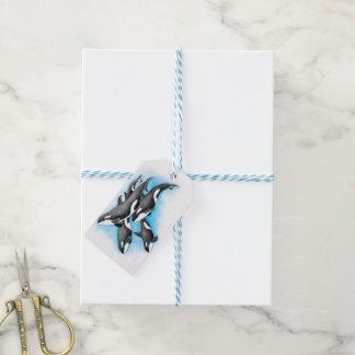 Schwertwale im Blau Geschenkanhänger