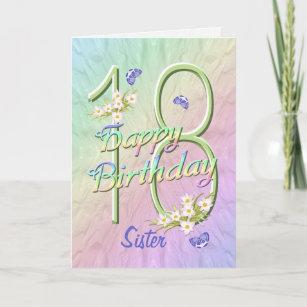18 Geburtstag Schwester Geschenke Zazzle Ch