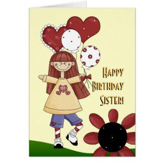 Schwester-alles Gute zum Geburtstagkarte Karte