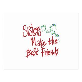 Schwester-beste Freunde Postkarte
