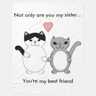 Schwester-bester Freund-Katzen kundengerecht Fleecedecke