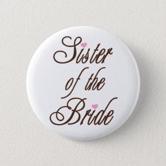 Schwester des Braut-noblen Brauns Runder Button 5,7 Cm