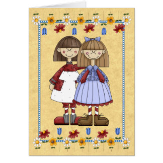Schwester-Freundschafts-Geburtstags-Karte Karte