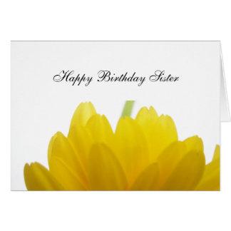 Schwester-Geburtstags-Grüße Grußkarte