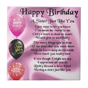 Der Geburtstag Der Schwester Fliesen Zazzlech