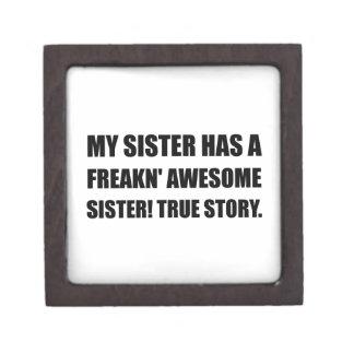 Schwester hat fantastische Schwester Schachtel