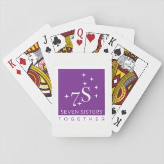 Schwester sieben zusammen Spielkarten