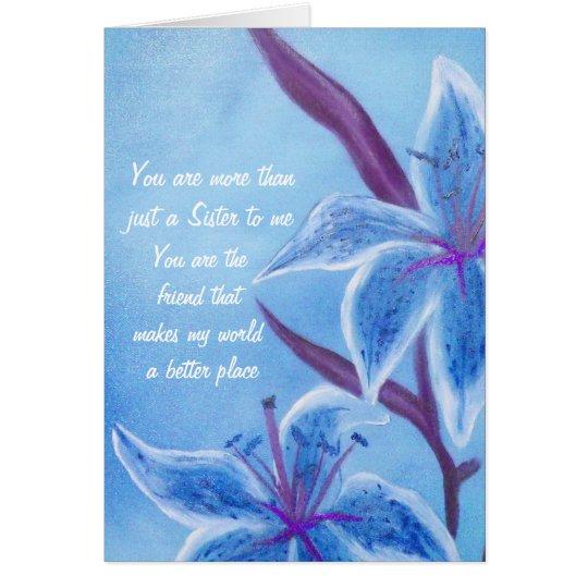 Schwester-und Freund-Valentinsgruß-Karte Grußkarte