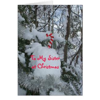 Schwester Weihnachten-Süßigkeit Stock Karte