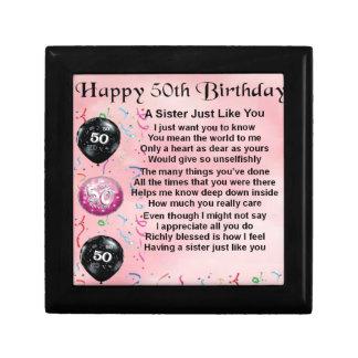 Schwestergedicht - 50. Geburtstagsentwurf Erinnerungskiste