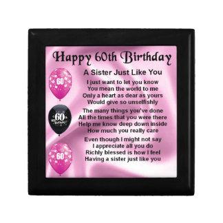 Schwestergedicht - 60. Geburtstag Geschenkbox