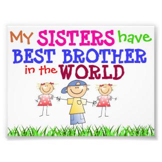 Schwestern haben bestes Bruder-Foto Photodruck