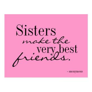 Schwestern machen die besten Freunde - Postkarte