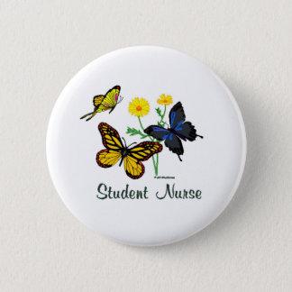 Schwesternschülerin-Schmetterlinge Runder Button 5,1 Cm