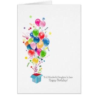 Schwiegertochter-Geburtstagskarten, bunte Ballone Karte