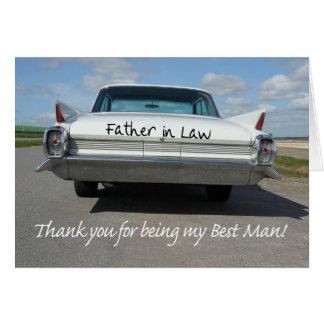 Schwiegervater-Trauzeuge danken Ihnen Karte
