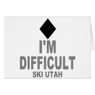 Schwieriger Ski Utah Karte