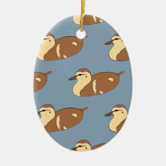 Schwimmen-Enten Ovales Keramik Ornament
