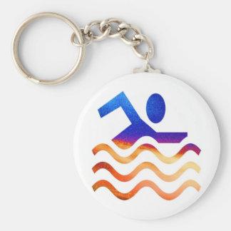 Schwimmen-Erfolg - cooler Verstand in heiße Zeiten Schlüsselanhänger
