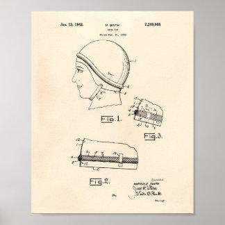 Schwimmen Gap 1942 patentiert Kunst altes Peper Poster