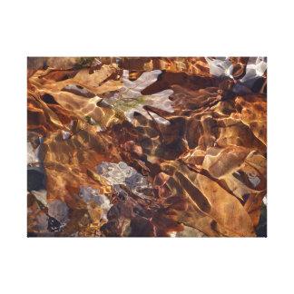 Schwimmen-Herbst verlässt abstraktes Photograpy Leinwanddruck